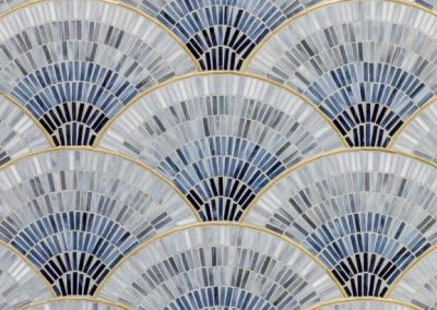 fan club jazz glass blue mosaic